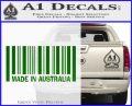 Made In Australia Decal Sticker Green Vinyl Logo 120x97