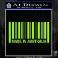 Made In Australia Decal Sticker Lime Green Vinyl 120x120