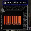 Made In Australia Decal Sticker Orange Emblem 120x120