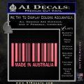 Made In Australia Decal Sticker Pink Emblem 120x120