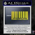 Made In Australia Decal Sticker Yellow Laptop 120x120