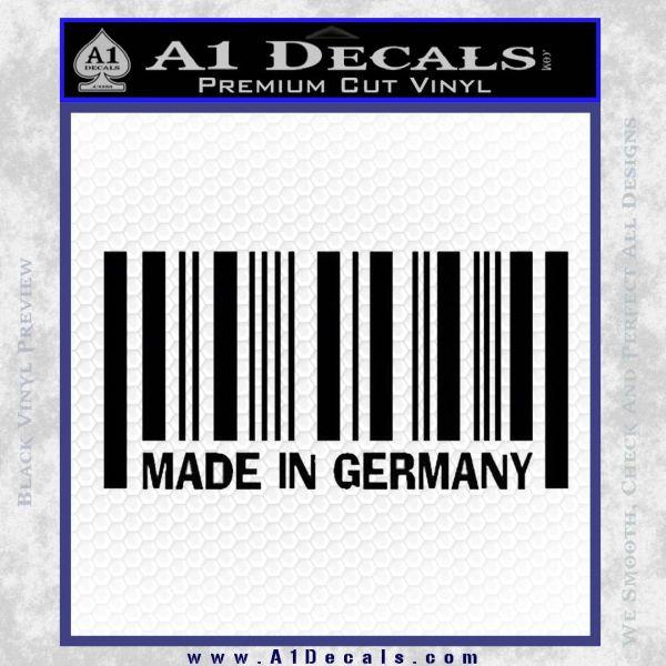 Made In Germany Decal Sticker BMW Black Vinyl