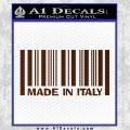 Made In Italy Decal Sticker BROWN Vinyl 120x120