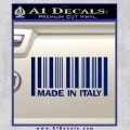 Made In Italy Decal Sticker Blue Vinyl 120x120
