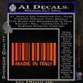 Made In Italy Decal Sticker Orange Emblem 120x120