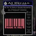 Made In Italy Decal Sticker Pink Emblem 120x120