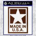 Made USA Decal Sticker BROWN Vinyl 120x120