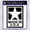 Made USA Decal Sticker Black Vinyl 120x120