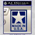 Made USA Decal Sticker Blue Vinyl 120x120