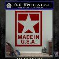 Made USA Decal Sticker DRD Vinyl 120x120