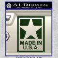 Made USA Decal Sticker Dark Green Vinyl 120x120