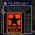 Made USA Decal Sticker Orange Emblem 120x120