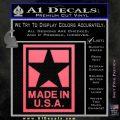 Made USA Decal Sticker Pink Emblem 120x120