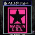 Made USA Decal Sticker Pink Hot Vinyl 120x120