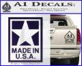 Made USA Decal Sticker PurpleEmblem Logo 120x97