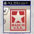 Made USA Decal Sticker Red 120x120