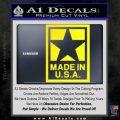 Made USA Decal Sticker Yellow Laptop 120x120