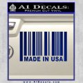 Made in USA Barcode Decal Sticker Blue Vinyl 120x120