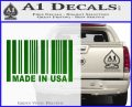 Made in USA Barcode Decal Sticker Green Vinyl Logo 120x97