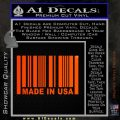 Made in USA Barcode Decal Sticker Orange Emblem 120x120