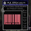 Made in USA Barcode Decal Sticker Pink Emblem 120x120
