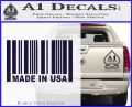 Made in USA Barcode Decal Sticker PurpleEmblem Logo 120x97