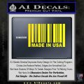 Made in USA Barcode Decal Sticker Yellow Laptop 120x120
