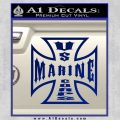 Marine Iron Cross Decal Sticker Blue Vinyl 120x120