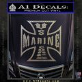Marine Iron Cross Decal Sticker Carbon FIber Chrome Vinyl 120x120