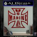 Marine Iron Cross Decal Sticker DRD Vinyl 120x120