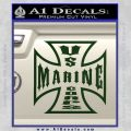 Marine Iron Cross Decal Sticker Dark Green Vinyl 120x120