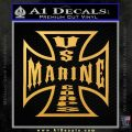 Marine Iron Cross Decal Sticker Gold Vinyl 120x120