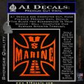 Marine Iron Cross Decal Sticker Orange Emblem 120x120