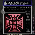 Marine Iron Cross Decal Sticker Pink Emblem 120x120