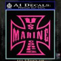 Marine Iron Cross Decal Sticker Pink Hot Vinyl 120x120