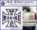 Marine Iron Cross Decal Sticker PurpleEmblem Logo 120x97