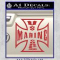 Marine Iron Cross Decal Sticker Red 120x120