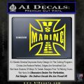 Marine Iron Cross Decal Sticker Yellow Laptop 120x120