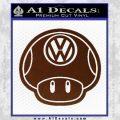 Mario Mushroom VW D2 Decal Sticker BROWN Vinyl 120x120