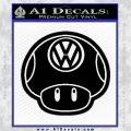 Mario Mushroom VW D2 Decal Sticker Black Vinyl 120x120