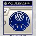 Mario Mushroom VW D2 Decal Sticker Blue Vinyl 120x120