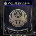 Mario Mushroom VW D2 Decal Sticker Carbon FIber Chrome Vinyl 120x120