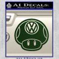 Mario Mushroom VW D2 Decal Sticker Dark Green Vinyl 120x120