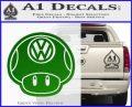 Mario Mushroom VW D2 Decal Sticker Green Vinyl Logo 120x97