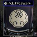 Mario Mushroom VW D2 Decal Sticker Metallic Silver Emblem 120x120