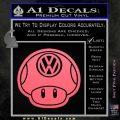 Mario Mushroom VW D2 Decal Sticker Pink Emblem 120x120