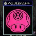 Mario Mushroom VW D2 Decal Sticker Pink Hot Vinyl 120x120
