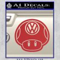 Mario Mushroom VW D2 Decal Sticker Red 120x120