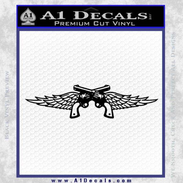 Miranda Lambert Pistols Wings Decal Sticker A1 Decals