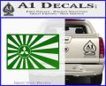 Mitsubishi Rising Sun Decal Sticker Green Vinyl Logo 120x97